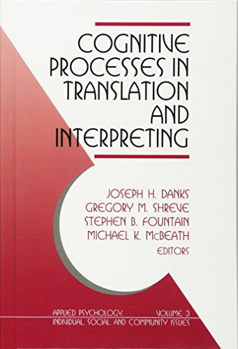 Cognitive Processes in Translation and Interpreting (Applied Psychology)