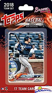 Atlanta Braves 2018 Topps Baseball EXCLUSIVE Special Limited Edition 17 Card Complete Team Set with OZZIE ALBIES ROOKIE,Freddie Freeman & Many More Stars & Rookies! Shipped in Bubble Mailer! WOWZZER!