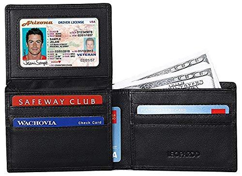 Leopardd Billetera plegable para hombre, el mejor bloqueo RFID de cuero auténtico/tarjetero para hombre