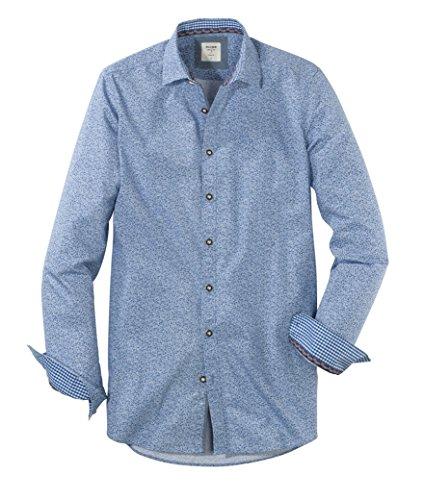 OLYMP Hemd Trachtenhemd Level 5 Body Fit blau, Größe M