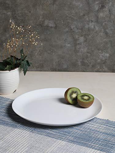 Luminarc Opalware Diwali Dinner Plate, 27 cm, White, 6 Piece