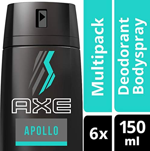 Axe Apollo For Men Deodorant - 6 x 150 ml - Voordeelverpakking
