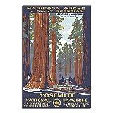 Yosemite Vintage-Poster mit Nationalpark-Motiv