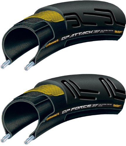 Continental Grand Prix Force & Attack Pneu Souple Noir 700 x 24C (24-622)