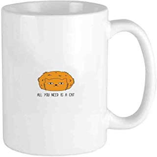 All You Need is a Cat Saying Meow Lovers Furry Impression Sketchy Inspired Inscription Funny Coffee Mug Cool Coffee Tea Cup 12 Ounces Perfect Gift for Family and Friend
