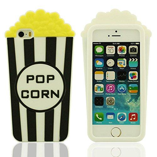 Sconosciuto Custodia per iPhone 5 5S 5C 5G, Copertura per iPhone 5 / 5S, iPhone 5 Case Cover, Originale Design Popcorn Forma Morbida Soft Silicone Gel Alta qualità Custodia Protettiva