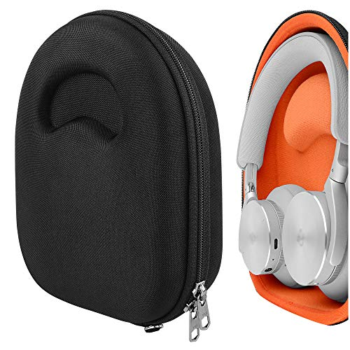 Geekria UltraShell Case Compatible with Bang & Olufsen Beoplay H95, H9i, H9, H8, H8i, H6, H4, H2 Headphones, Replacement Protective Hard Shell Travel Carrying Bag with Cable Storage (Black)