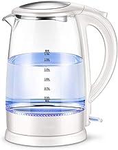 Waterkoker Van Glas, Eco-Waterkoker Van 1,7 L Met Verlichte Led, Bpa-Vrije Draadloze Waterkoker Met Roestvrijstalen Binnen...