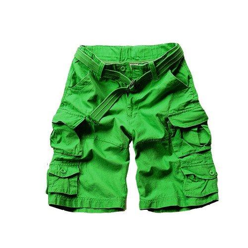 WDDGPZDK Strand Shorts/Männer Cargo Shorts Baumwolle Camouflage Hosen 11 Farben Größe S M L XL XXL XXXL C001, Grün, XL