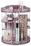 Sorbus Rotating Makeup Organizer, 360° Rotating Adjustable Carousel Storage for Cosmetics, Toiletries, and More - Great for Vanity, Bathroom, Bedroom, Closet, Kitchen (Purple) purple eyeliner Apr, 2021