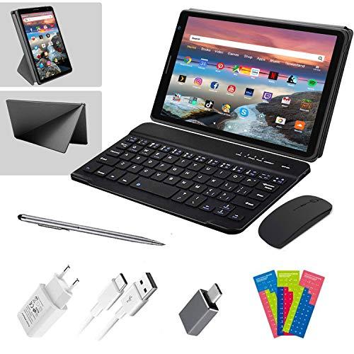 Tablet 8 Pulgadas con WiFi Android 10.0 3GB de RAM 32GB/128GB de ROM 1.6Ghz Quad Core Tablet PC Baratas y Buenas Tableta Netflix Bluetooth OTG,Teclado Bluetooth, Ratón