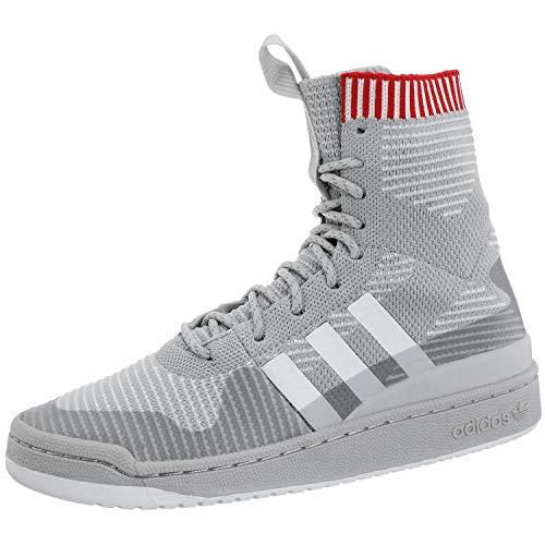 adidas Forum Winter PK, Scarpe da Fitness Uomo, Grigio/Bianco/Rosso (Gridos Ftwbla Escarl), 44 EU