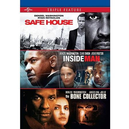 Denzel Washington Triple Feature Safe House, Inside Man & Bone Collector DVD
