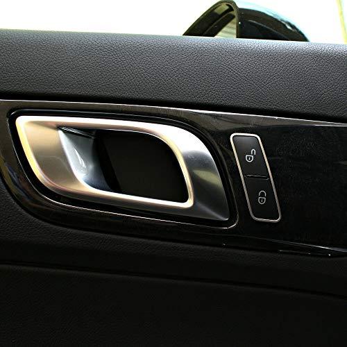 2-tlg. Zierrahmen für Türverriegelung von Mercedes SLK 172 aus Aluminium R172 FL 280 200 350 AMG55 AMG45