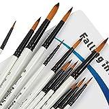 Falling in Art Paint Brushes Set, 12 PCS Nylon...
