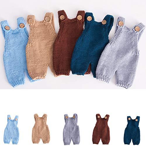 Pagliaccetti del Bambino Infantile della Bretella Infant Bretella Knit Prendendo Foto 0-1 Mese Ragazzini Ragazze Carine Tuta