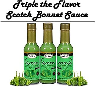 Grace Green Scotch Bonnet Pepper Sauce 3pk
