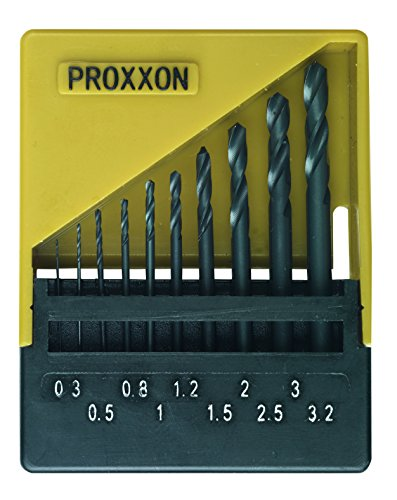 Proxxon Micromot 28 874 HSS Metal Twist Drill Bit Set 10 Pieces 0.3 mm, 0.5 mm, 0.8 mm, 1 mm, 1.2 mm, 1