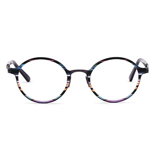 5e8510a68928 Womens Gorgeous Oval Stripe Pattern Non-Prescription Eyewear Frames For  Elegant Lady