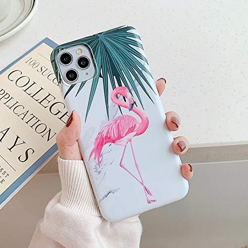 TDG Fundas Vintage Flamingo Phone Case para iPhone 12 11 Pro MAX XR XS MAX 7 8 6 Plus X Mate Suave Imd Marble Contraportada para iPhone 6 6S B