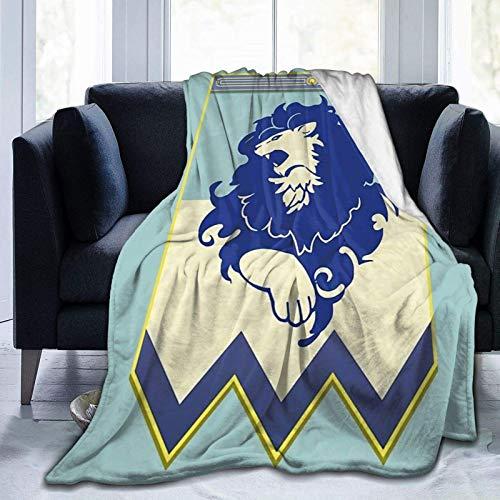 Manta Fire Emblem 3 Houses Blue Lions Banner Manta de Lana de Franela SúPer Suave y Ligera,CáLida y Acogedora,Adecuada para SofáS,Camas y Manta de Reserva de Viaje Negro 50'X40