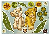 Komar 14040h Disney-Deco-Sticker SIMBA AND NALA Wandtattoo,