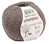 Biowolle Lane Mondial Bio Lana Fine Fb. 342 braun, 50g Reine Schurwolle zum Stricken, Babywolle Bio