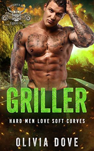 GRILLER: An Instalove Age Gap BBW Biker Romance (Knights of Chaos MC Book 4) (English Edition)