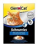 GimCat Salmón y taurina, Pastillas para Gatos con Ingredientes funcionales Que promueven la función cardíaca y la visión, 1 Paquete (1 x 420 g)