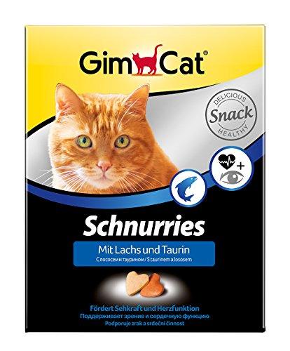 GimCat Schnurries Lachs und Taurin - Katzentabs mit funktionalen Inhaltsstoffen fördern Herzfunktion und Sehkraft - 1 Packung (1 x 420 g)
