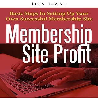 Membership Site Profit audiobook cover art