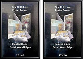 Poster Art House 27-Inch-by-40-Inch Poster Frame, Black Finish, Set of 2