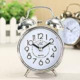 king do way Clásico Despertador Aprendizaje Clock Despertador Alarma Doble Campanas,...