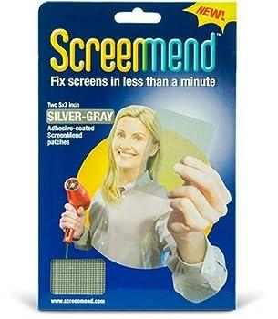 WindowScreen Repair Kit - 5  x 7  Silver-Gray  2 Patches