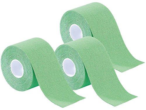 newgen medicals Lymphtapes: Kinesiologie-Tape aus Baumwollgewebe, 3er-Set, grün (Stützverband)