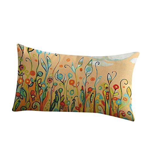 LONUPAZZ Cushion Cover Home Sofa Decorative Pillowcase Festival 30x50, Cotton, d, 30_x_50_cm
