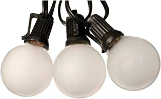 Globe Light Strand Black 25ft Frosted bulbs - Wedding Lights G40 Globe Lights