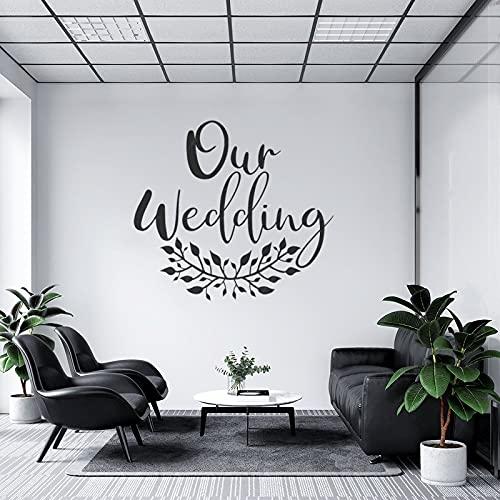 by Unbranded Pegatinas de pared de nuestra boda para casarse con la...