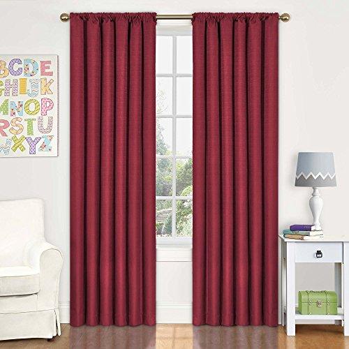 cortina roja fabricante Eclipse Curtains