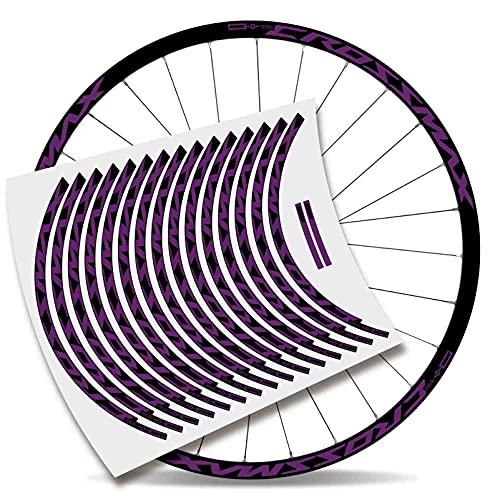 Kit Pegatinas Bicicleta Stickers LLANTA Mavic Crossmax Pro Carbon 29'' MTB BTT B (Violeta)