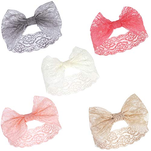 Hudson Baby Unisex Cotton and Synthetic Headbands, Charcoal Pink, 0-24 Months