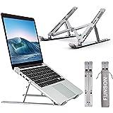 """Funson Soporte Portátil Aluminio Ventilado Laptop Stand Ajustable Refrigeración Soporte Ordenador Portátil Plegable Ligero Soporte Mesa para Macbook DELL XPS, HP, PC, Lenovo y Otros 10-17"""" Portatiles"""