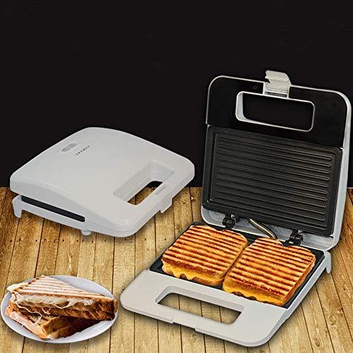 HUIJ Sandwichera Tostadora Sandwich Placa extraíble con Control automático de Temperatura y tostadora Tipo sándwich Desmontable,Placa de Acero Inoxidable Antiadherente,fácil de Limpiar,750 vatios