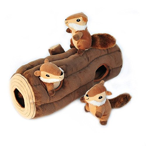 Dogs will Love This Stocking Stuffer Chipmunks In A Tree Trunk