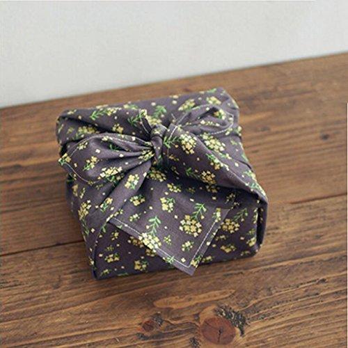 MXJ61 Mouchoir de tissu de déjeuner de nappe d'impression de serviette de coton 32 * 43cm ( Couleur : Marron , taille : 4 Pcs/Set )