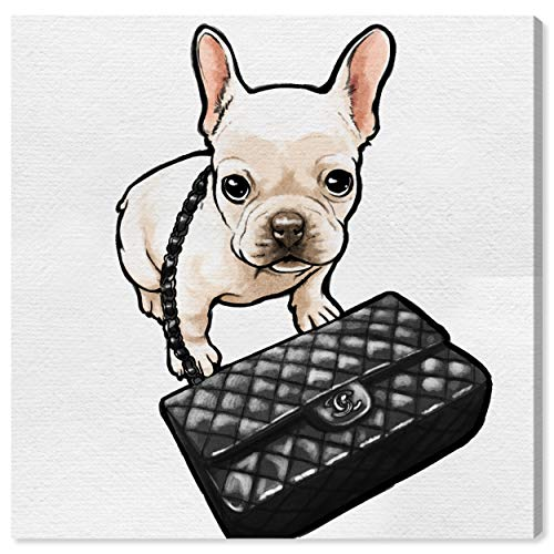 Oliver Gal 'Classy Frenchie' The Dogs and Puppies Wall Art Decor Collection Contemporary Premium Canvas Art Print