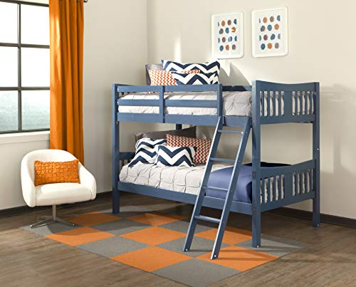 Storkcraft Caribou Solid Hardwood Twin Bunk Bed, Navy Twin...