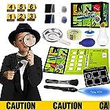 Spy Kit for Kids Role Play Fingerprint Kit for Kids Detective Costume Spy Stuff for Kids Dress Up Educational Science STEM Toys for 6 7 8 9 10 11 12 Years Old Boys Girls Kids Gifts.