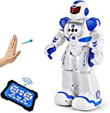 Asomer Smart Robots for Kids, RC Remote Control Robot for Boy Toys with Infared Gesture Sensing Dancing Singing Interactive Early Educational Kids Robot Toys Birthday Gift for Children