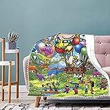 Manta infantil de personajes de Disney de 127 x 152 cm, sofá o cama en todas las estaciones